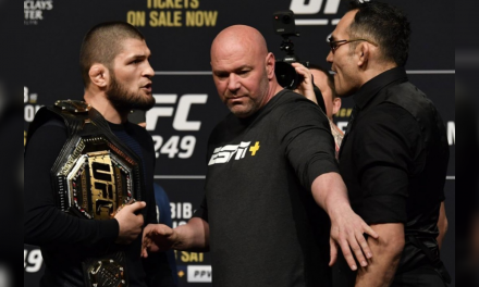 Before UFC 249, see how Khabib Nurmagomedov and Tony Ferguson ended being booked for a fifth time, which the promotion vows won't be deterred by the COVID-19 outbreak.