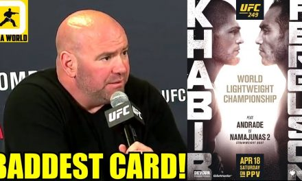 We're trying to build the BADDEST CARD EVER in the history of the sport at UFC 249